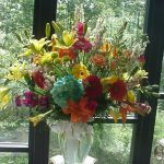 Shannon's Custom Florals Church Wedding Decorations (24)