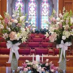 Shannon's Custom Florals Church Wedding Decorations (50)