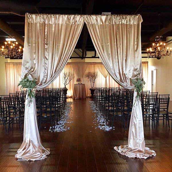 Wedding Church Flowers Ideas: Canopies & Backdrops